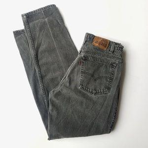 Levi's | Vintage High Waisted Black Mom Jeans